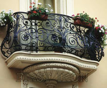 French forged iron wrought iron balcony