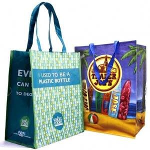 High quality full color printed eco-friendly pp non woven shopping bag bag