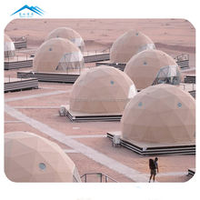 Customized dome polystyrene eco hotel resort desert dome tent 8m tourism for people accomodation