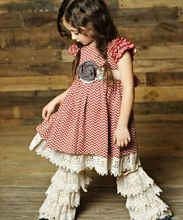 awesome clothing factory price lace chevron baby outfit boutique
