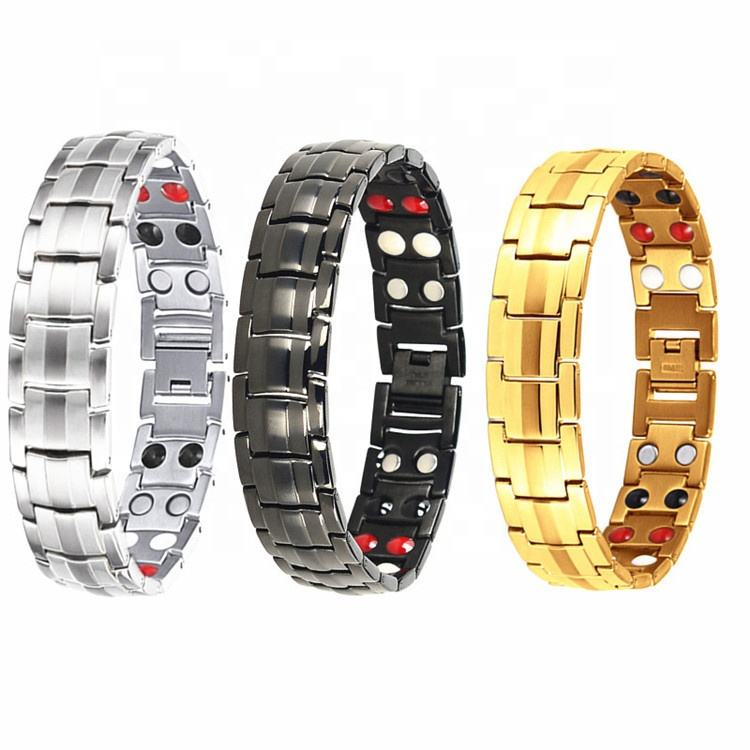 Healthcare Germanium Negative Stainless Bio Magnetic Bracelet Pain Relief Energy Bracelet