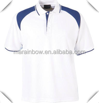 Custom Made Fashion Cotton Spandex Slim Fitted White mens Golf POLO Shirt hot selling