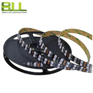 15mm negro PCB de doble fila color rojo 5050 led de luz de tira flexible