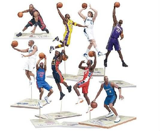 Personalizzato eco-friendly di plastica NBA basketball player figure