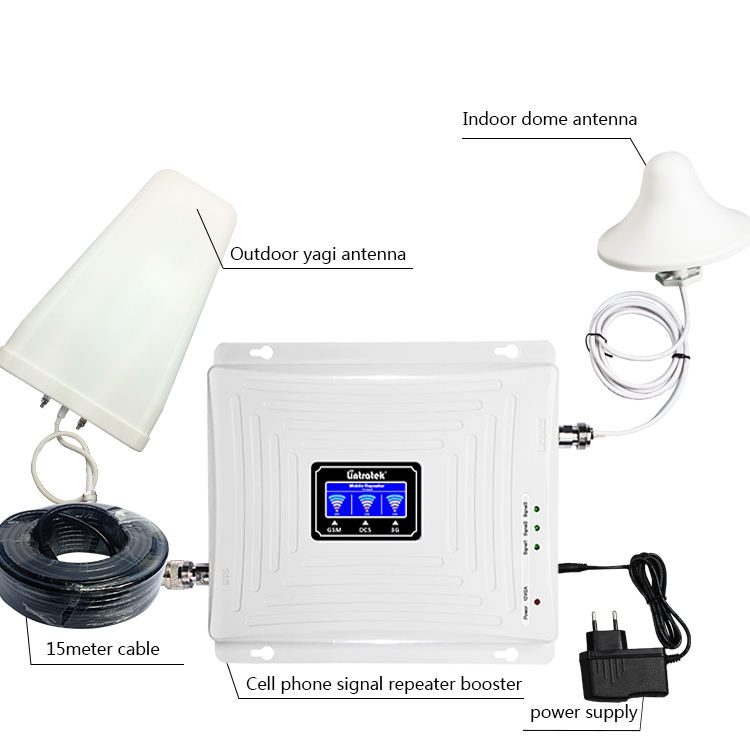 2G 3G 4G 900 1800 2100 Tri Band Manufacture Lintratek Cheapest Cell Signal Network Repeater/Booster/Amplifier