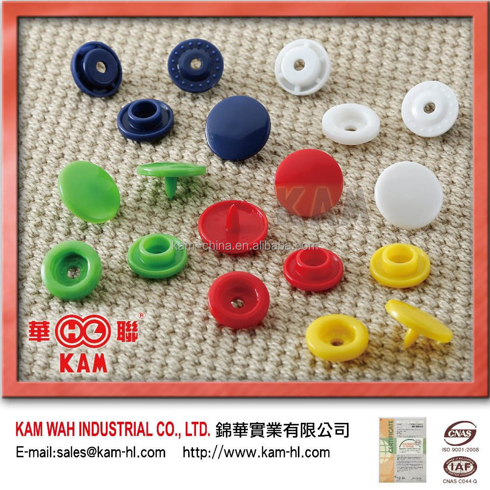High quality all types of cloth plastic jean snap button / color card snap button for garment /plastic snap buttons