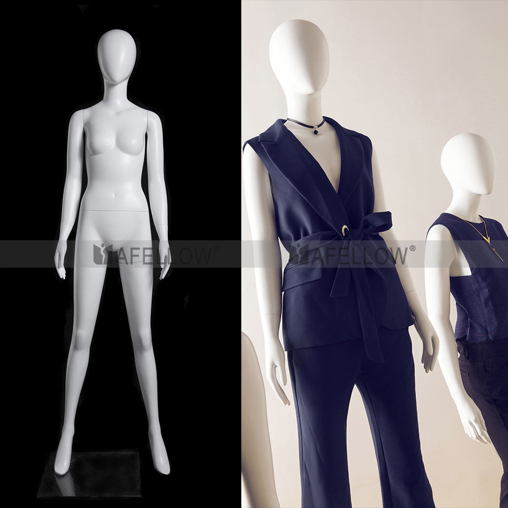GINA 2 Abstract fashion female mannequins in matte white color