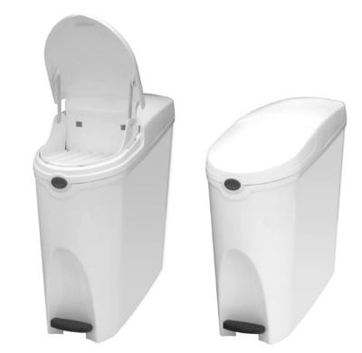20L slim shape Plastic foot pedal bin Lady Sanitary Bin for bathroom