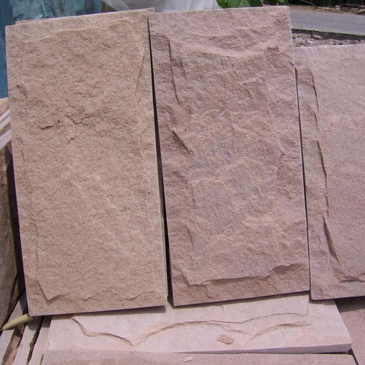 Wall stone mushroom finished red sandstone for wall decoration
