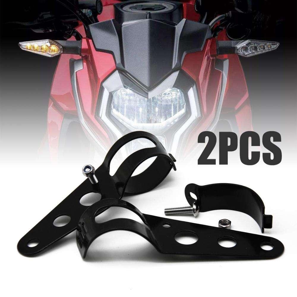 2pcs Aluminium Scheinwerfer Halterung Schellen Scheinwerferhalter Gabel 35-43mm f/ür Motorrad Schwarz Motorrad Scheinwerfer Halterung