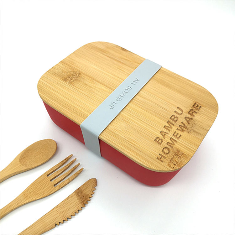 Free Branding bamboo food container ,salad box sandwich lunch box