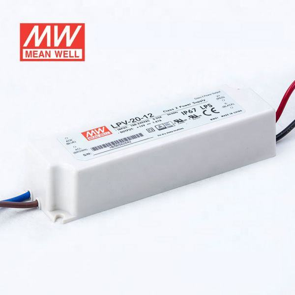 LPV-20 series 20W 5V 12V 15V 24V LED DRIVER AC-DC PSU IP67 MEAN WELL SMPS SWITCHING POWER SUPPLY