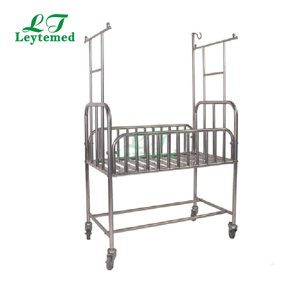 K-A153A ABS tray with mattress hospital comfortable baby cot bed