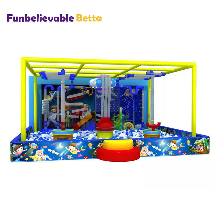 Lucu Playground Indoor Sains Interaktif Dinding Anak-anak Indoor Playground Pipa Mainan