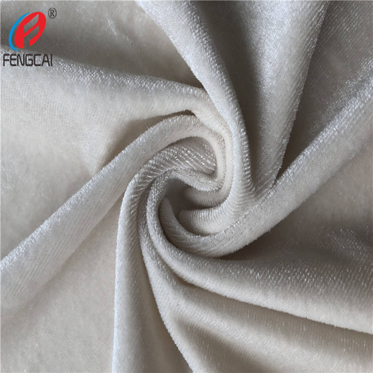 Korea Velvet Fabric , Polyester Spadex Stretch Velour Fabric For Garment / Dress
