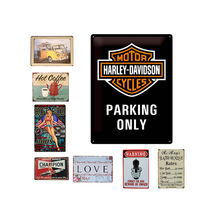 Wholesale custom vintage home decor bar tin metal sign retro