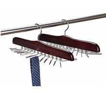 Wooden Tie Rack Hangers Rotating Twirl 24 Tie Organizer Rack Hanger Holder Hook