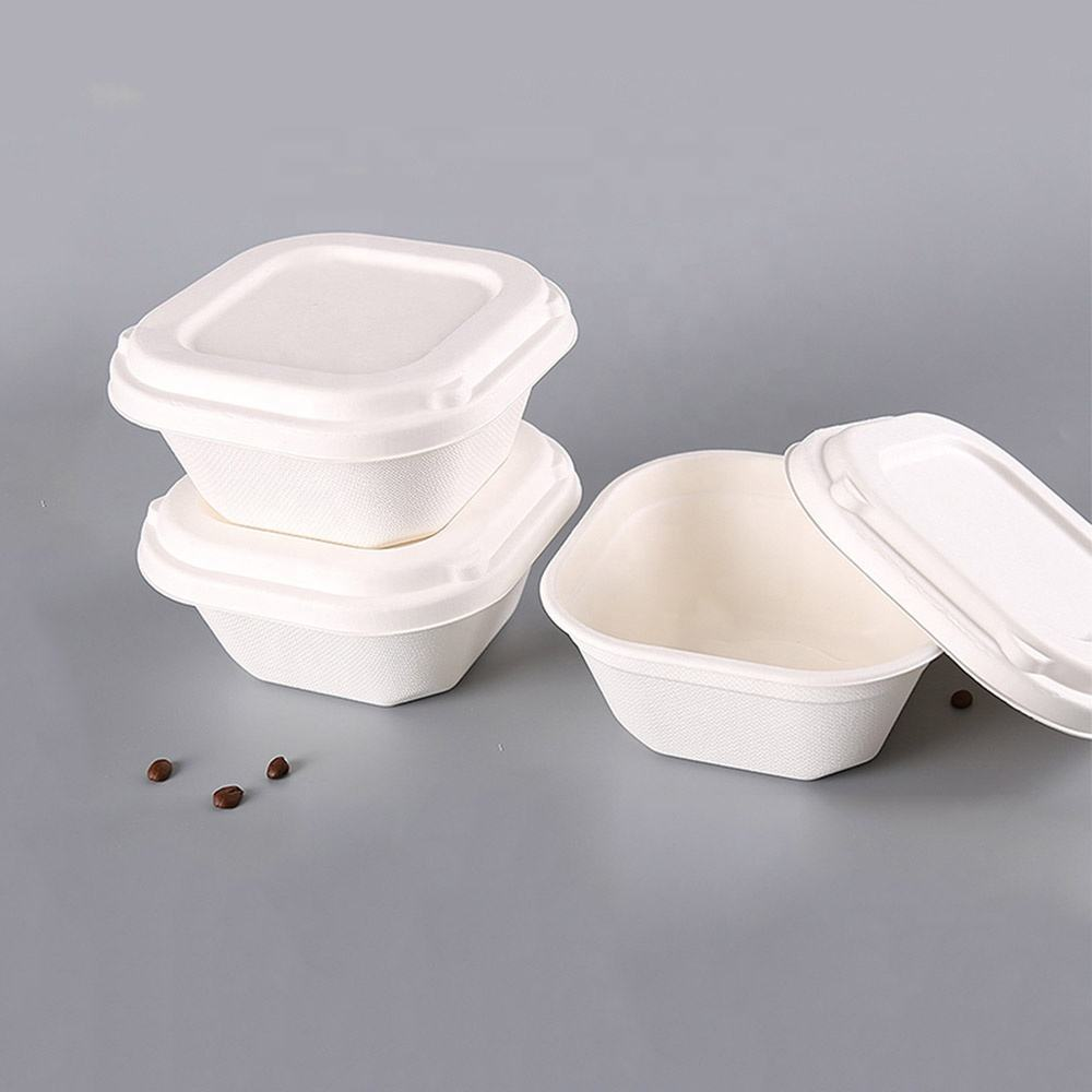 compostable sugar cane disposable take away bowl for food