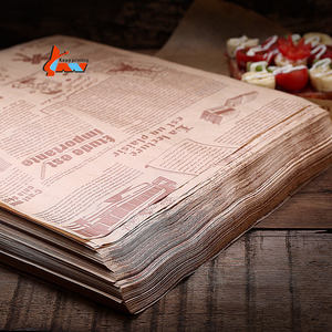 Custom food wrapping brown kraft paper High Grade Greaseproof paper