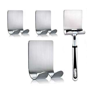 HONVEY Trade Assurance 304 Stainless Steel Shaver Holder Adhesive Wall Towel Robe Hook