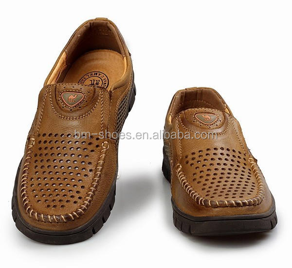 brand in alibaba men leather shoes