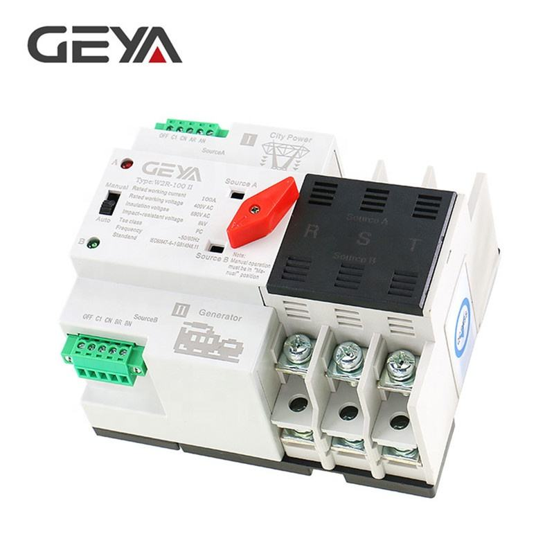 GEYA GAEYAELE Wenzhou China 63amp ATS Automatic Transfer Switch Dual Power Changeover Switch 3Phase