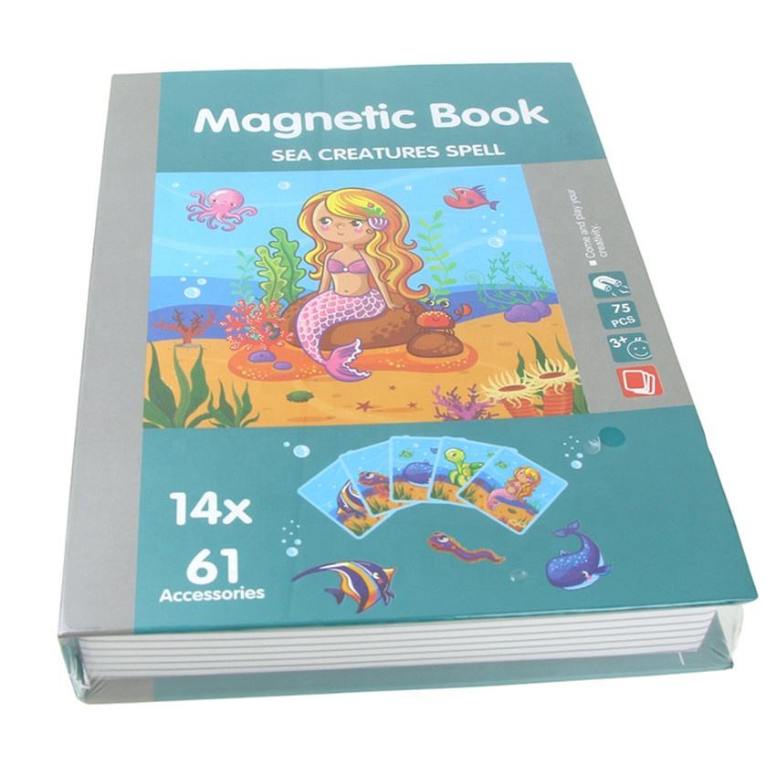 Kids Magnetic Books Puzzle Gift Educational Toys Montessori Magnetic Puzzles Toy