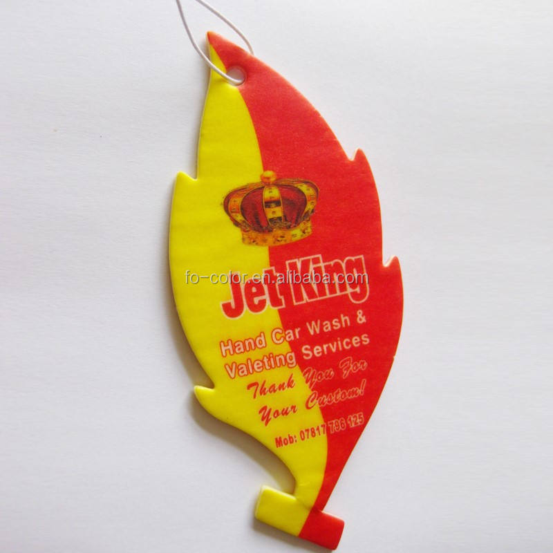 Promotional Paper Card Car Air Freshener, Perfume Card