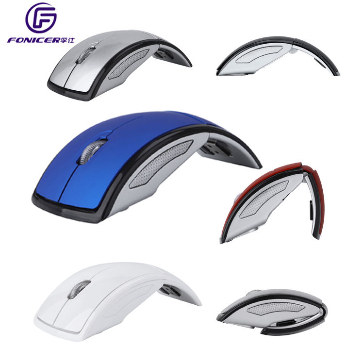 Corporate Gift Custom Logo 2.4G ARC Foldable Optical Mouse Wireless for PC Laptop