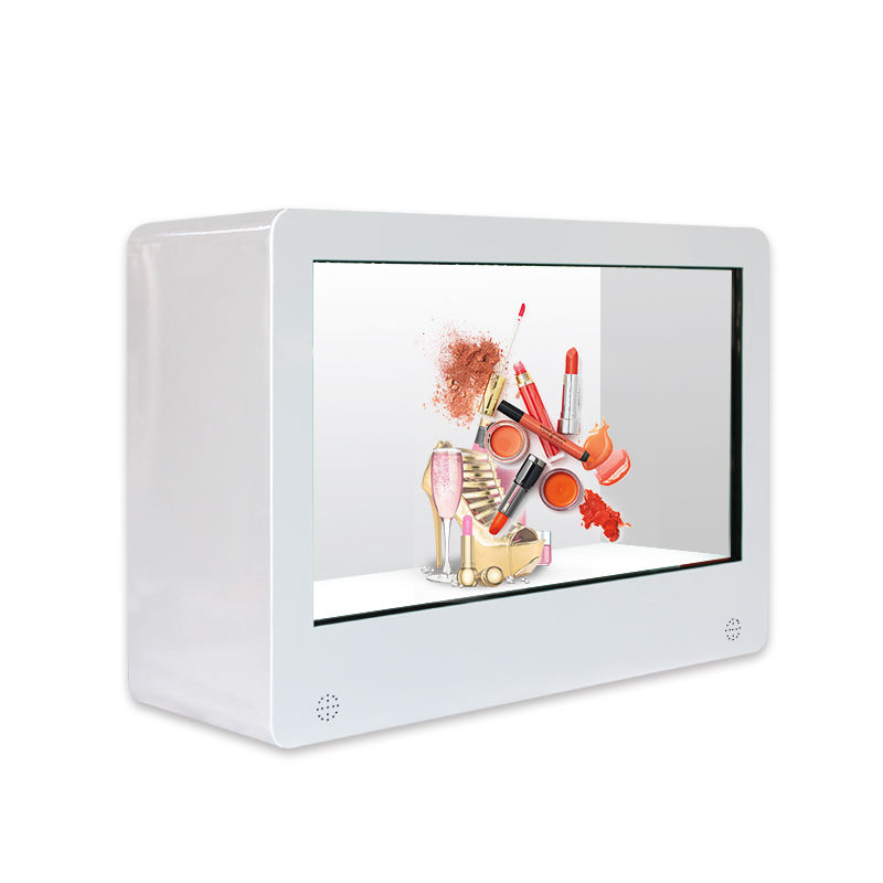 "32"" transparent lcd display box for advertising Android system with touch"