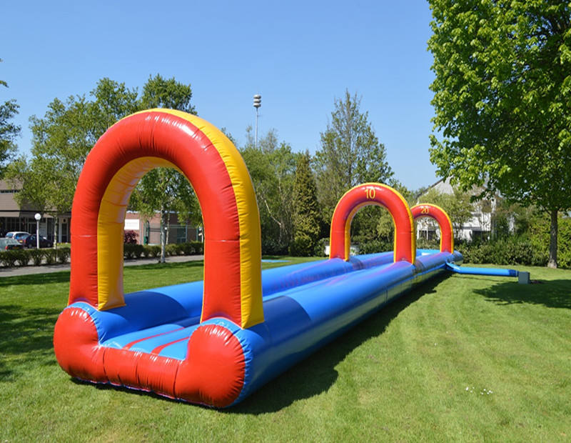 23m inflatable belly slide with swimming pool foam party water slide for sale