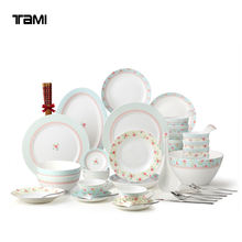 56pcs Wholesale Chinese ceramic tableware Porcelain dinnerware sets for wedding