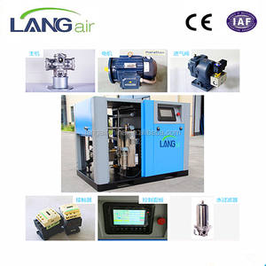 220 V 60Hz 3Ph Luchtcompressor 20 Hp Schroefcompressor 15Kw China Olie Gratis Luchtcompressor