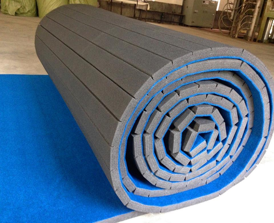 CE certificate 33kg wrestling mat flexi roll mat for exercise