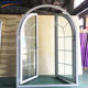 Arched french doors/cheap french doors/french doors with side panels