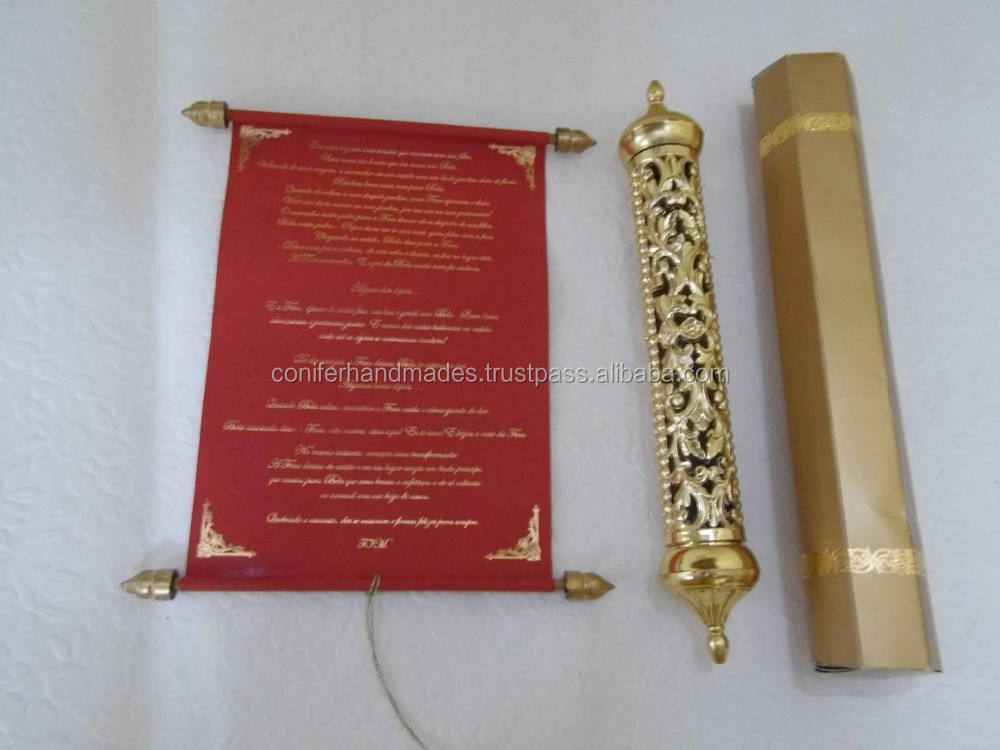 royal scroll wedding invitations with engraved gold boxes for weddings,
