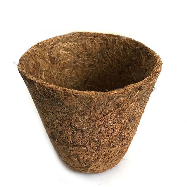 Eco-friendly cheap garden coir seed germination cups for plant mini coco fibre plant nursery pots coconut fibre seedling tray