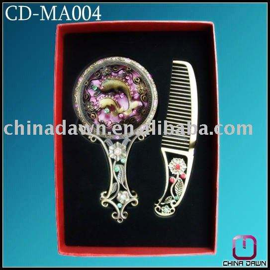 fashion gift cosmetic mirror set with dolphin antique CD-MA004