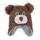 Popular cute design polar fleece lined bear beanie hat for babies