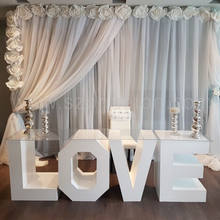 Wedding love letter table, cake table for party supplies