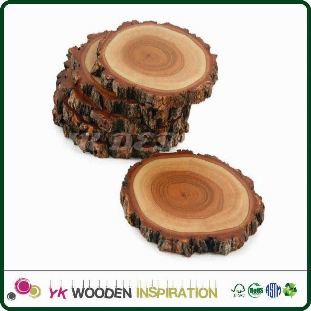 Blank wood coasters Home Deco Coaster Home Decoration Table Placemat Customized Shape
