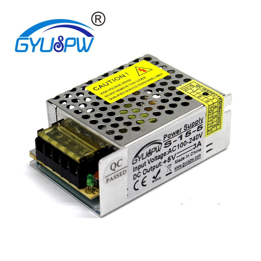 15W5V3A single group S-15-5 switching power supply LED sign word luminous word power 5V15W DC power supply