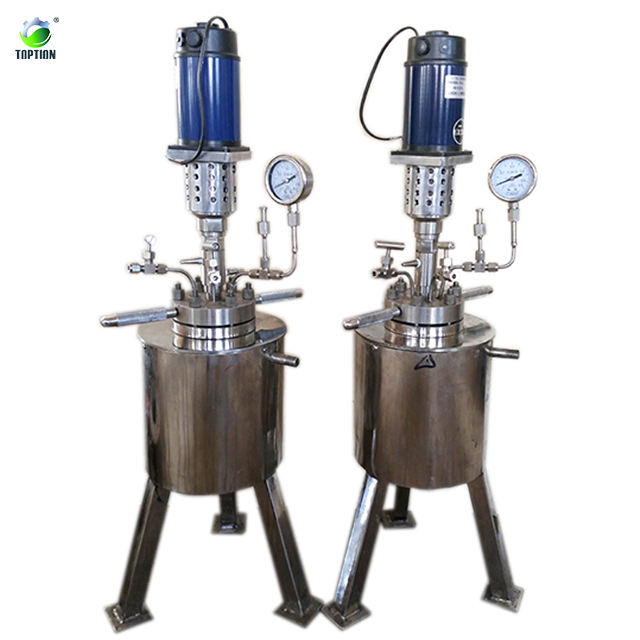 1L~10L high pressure glass chemical reactor with discharge valve Super Quality High Pressure Chemical Reaction Vessel