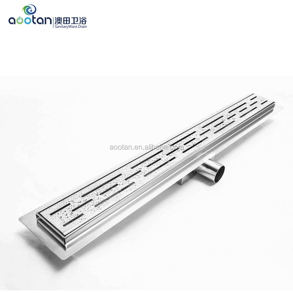 China Factory stainless steel linear shower drain with customize design