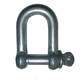 China Factory Small stainless steel rated European type D shackle and Bow shackle hoist equipment shackle bracelet