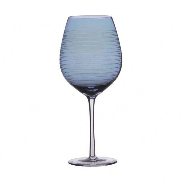 Prodotto OEM logo Personalizzato 23 oz <span class=keywords><strong>Bicchiere</strong></span> <span class=keywords><strong>di</strong></span> <span class=keywords><strong>vino</strong></span> con Blu Lucentezza e cerchi <span class=keywords><strong>di</strong></span> taglio.