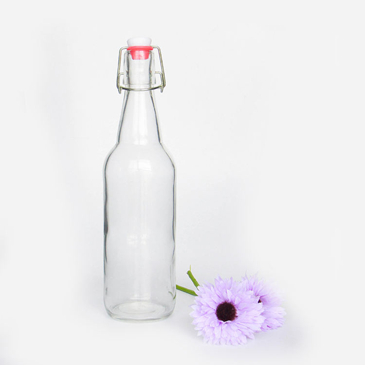 Wholesale 250ml 500ml 1000ml Swing Top Easy Cap Kombucha Kefir Beer Brewing Glass Bottles