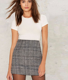 Women Sexy High Waisted Plaid Mini Short Skirt Casual Women Office Lady Summer Skirt Women High Waist Plaid A-Line Skirt