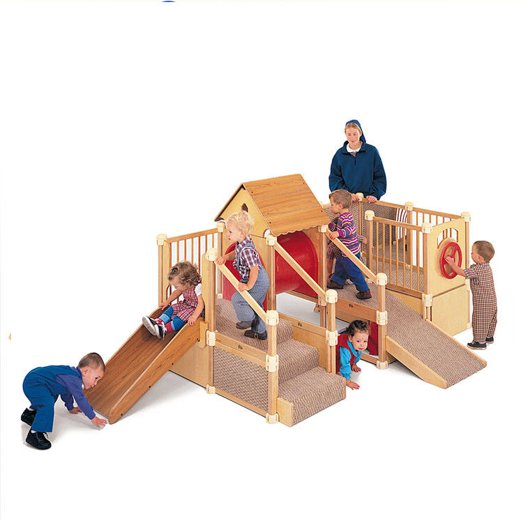 Custom design wooden home indoor gym equipment play gym baby for kids