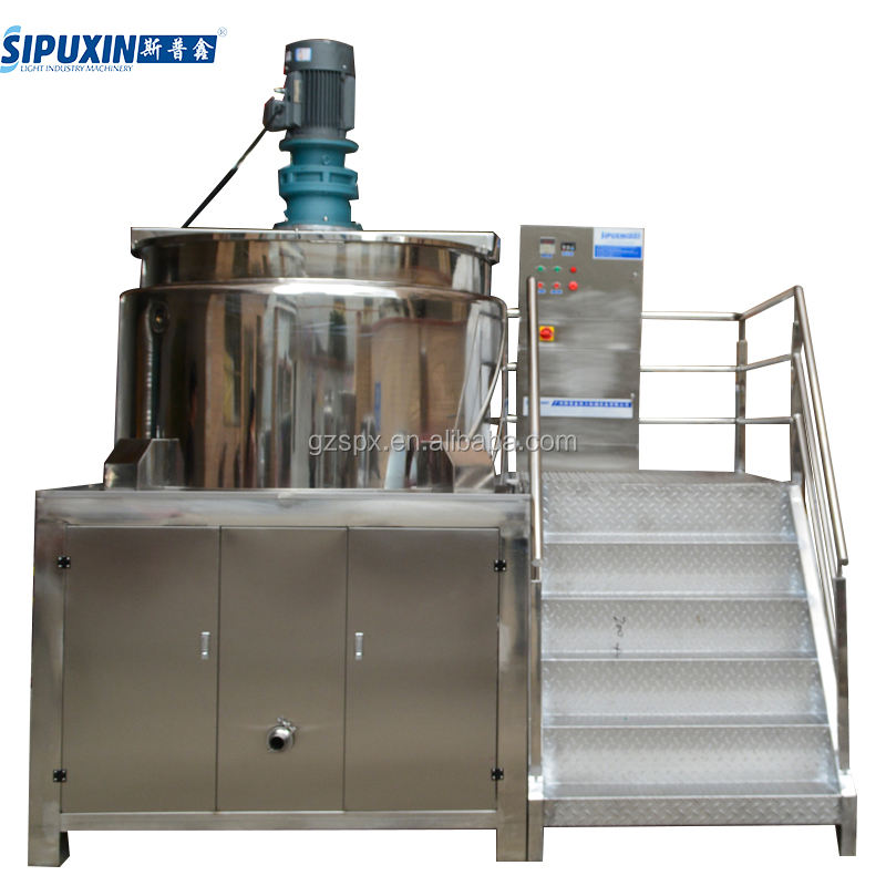 Guangzhou 1500l shampoo and liquid detergent products making homogenizing tank machine